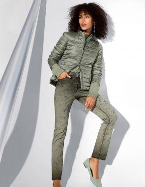 Облегающие брюки с 5 карманами и принтом