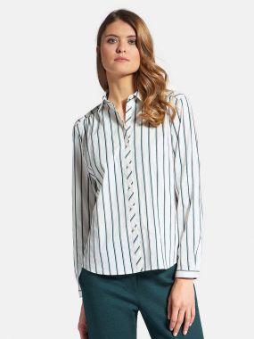 Блузка с драпировками на спинке